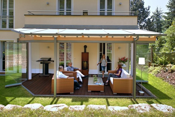 glas berdachung terrasse schwimmbadtechnik. Black Bedroom Furniture Sets. Home Design Ideas