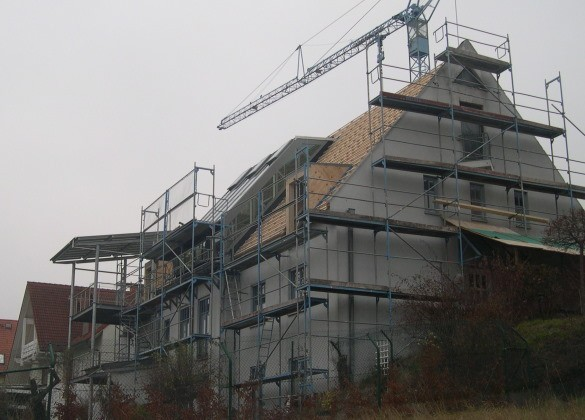 Loft-Wintergarten in Holz-Aluminium-Konstruktion in Zeil am Main/Haßberge